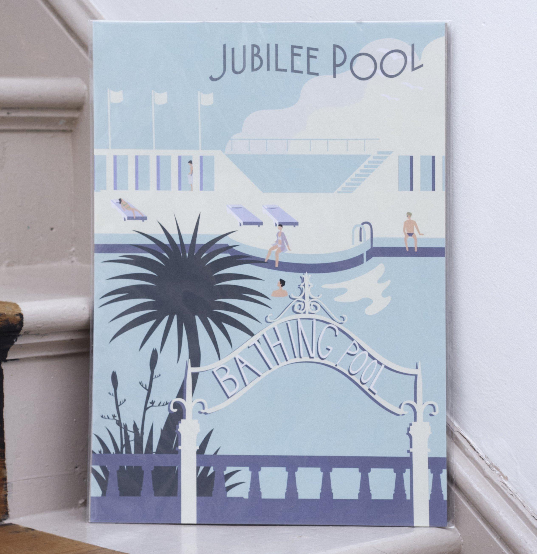 d09447e83b84 Jubilee Pool Penzance Print (A3 unframed) by Joe Mason – Morva Marazion