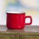 Red Enamel Espresso Mug