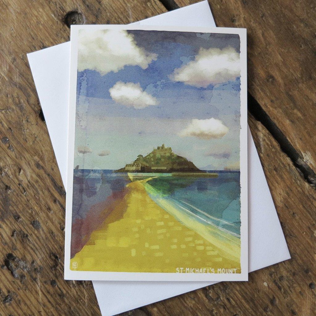 St Michaels Mount Greeting Card Morva Marazion